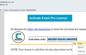 avast premier activation code free