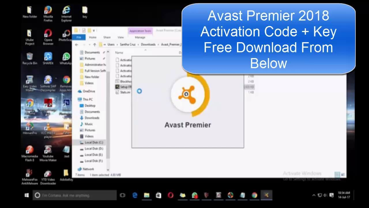 avast activation codes 2017