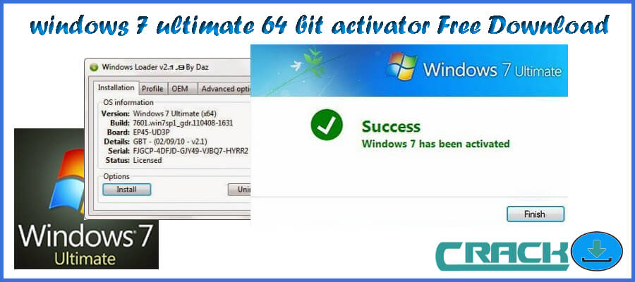 Windows 7 Activation - This copy of Windows 7 is not genuine