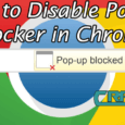 disable pop up in chrome
