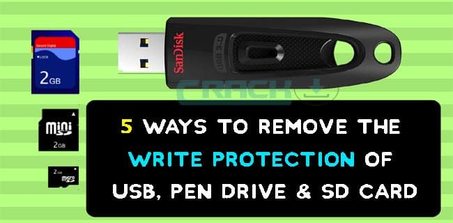 How to Remove write Protection