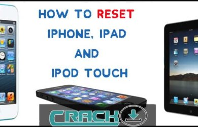 Reset iPhone ipad ipod touch