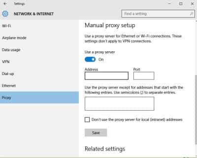windows could not automatically detect proxy