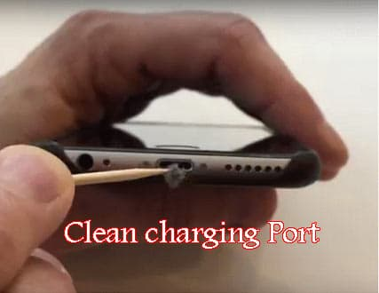 how to clean iphone charging port