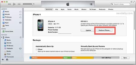 how to restore iphone without passcode