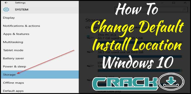 Change Default Install Location Windows 10