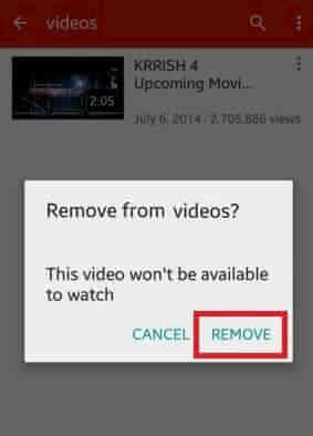 youtube how to delete video